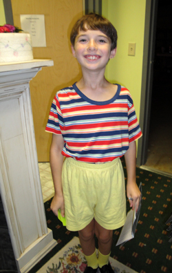 "Barringer Academic Center student Eli Newman played JoJo, one of the main characters in ""Seussical."""