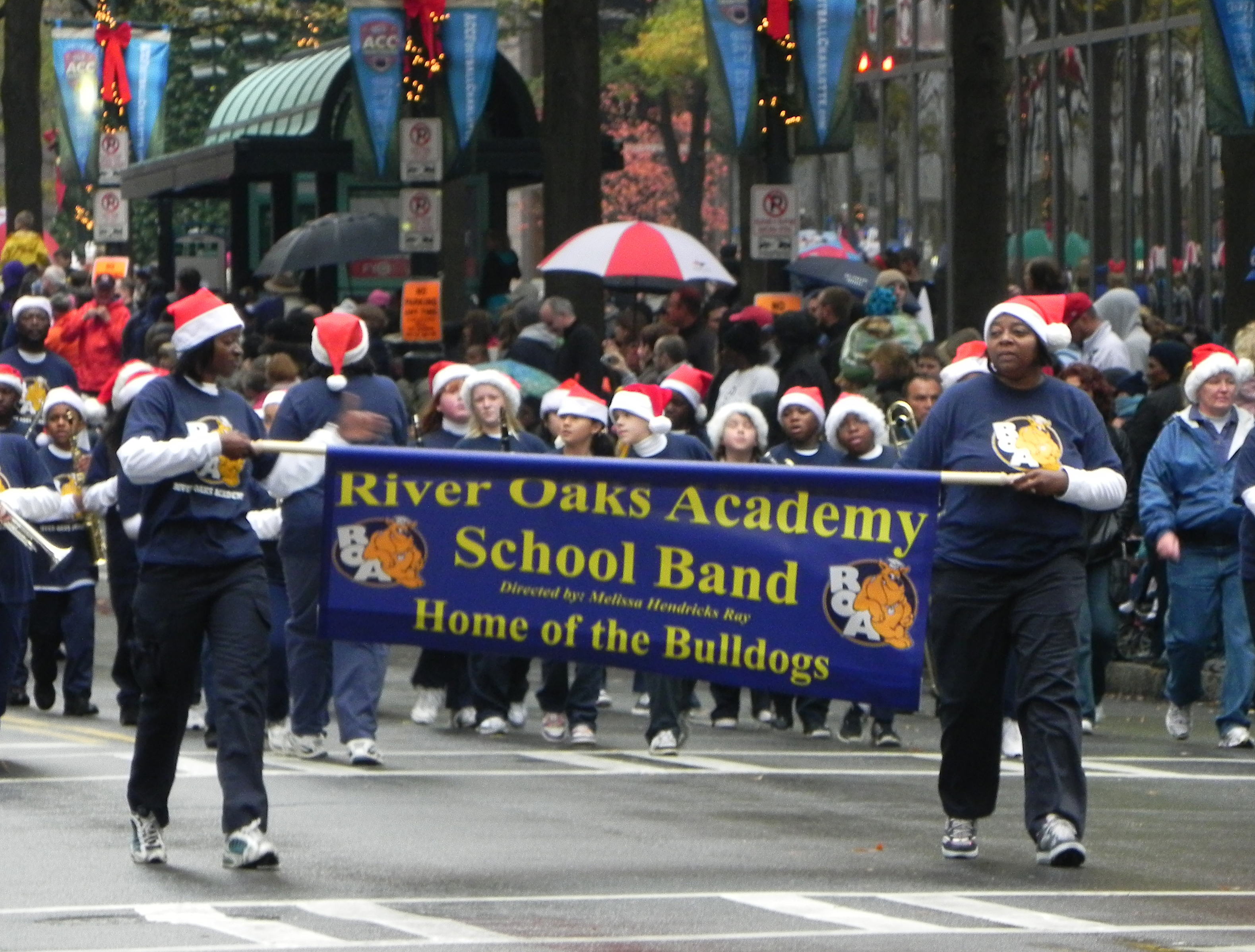 River Oaks Academy Band marches in Thanksgiving parade Uptown